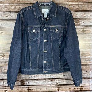 Calvin Klein- Dark Wash Denim Button Up Jacket